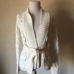 LOFT Knit Cardigan with Tie